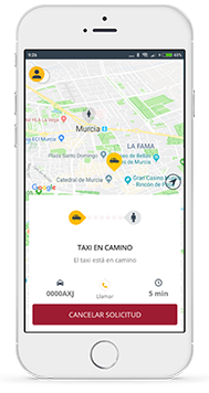 Dispositivo Móvil con App TaxiClick